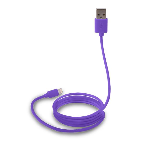 Canyon CNS-MFICAB01PU, 1m kábel Lightning/USB, MFI schválený Apple, fialový
