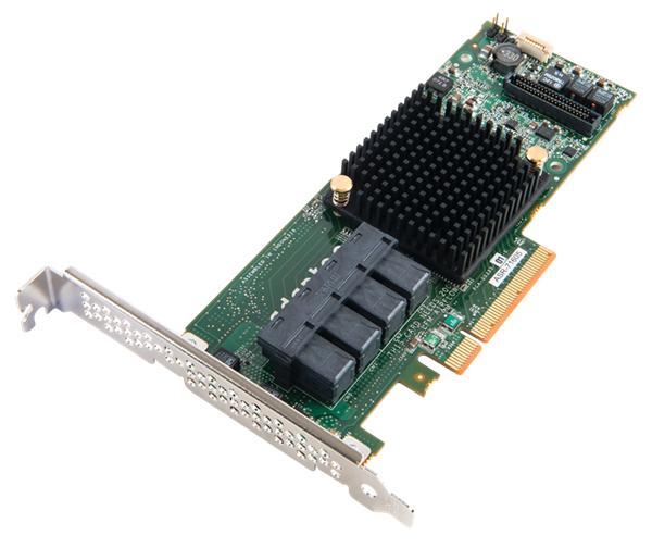 Adaptec ASR-81605ZQ, 16-portový 12Gb/s SASII/SATA 1GB RAID 0, 1,5,6 PCI maxCache Plus