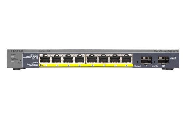 NETGEAR GS110TP 8x 10/100/1000Mbps + 2x SFP PoE