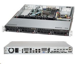 Supermicro Server SYS-5018A-MHN4 1U Intel® Atom 8-core C2758, server