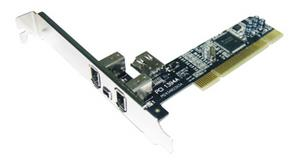 Radič do PCI, IEEE 1394 TI, 3+1port. Firewire adapter bez software