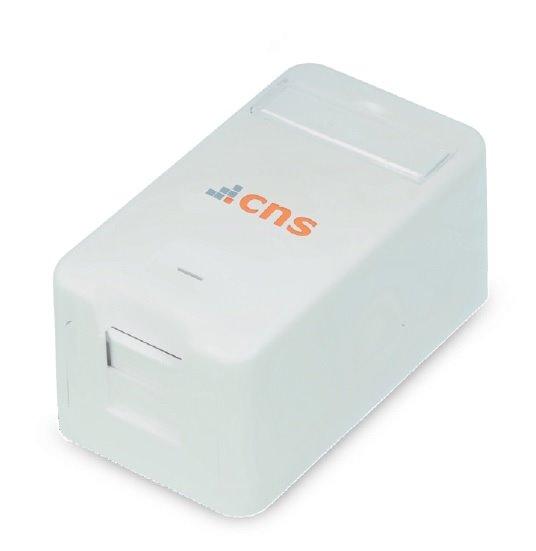 CNS Zásuvka Modul UTP 1 port, Cat6 na om. biela