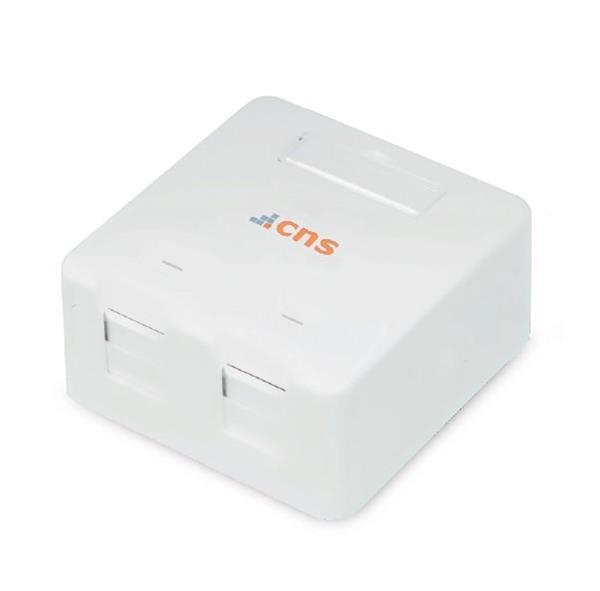 CNS Zásuvka Modul UTP 2 port, Cat5E na om. biela