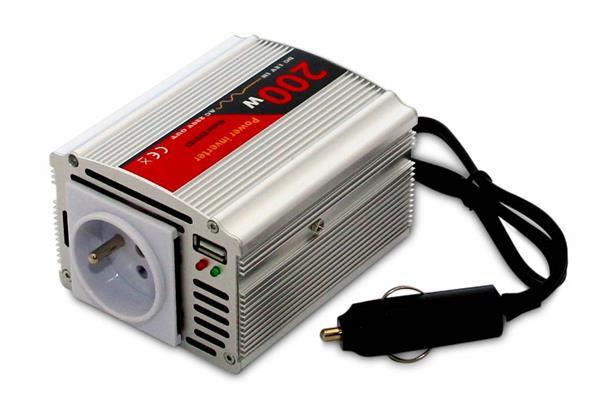 Menič napätia DY-8103-12, DC/AC 12V/230V, 200W, USB