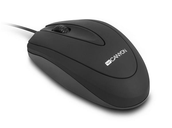 Canyon CNE-CMS1, optická myš, USB, 800 dpi, 3 tlač, čierna
