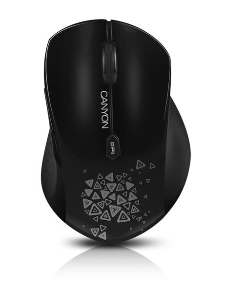 Canyon CNS-CMSW4B, Wireless optická myš USB, 800/1280 dpi, 6 tlač, Power Saving, čierna