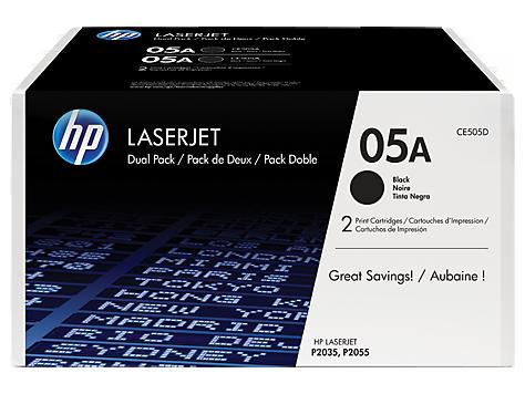 HP toner čierny pre LaserJet HP05A dualpack