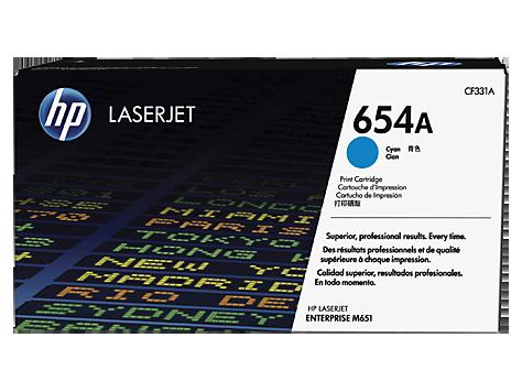 CF331A azúrová tonerová kazeta HP 654A LaserJet