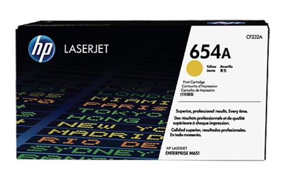 CF332A žltá tonerová kazeta HP 654A LaserJet