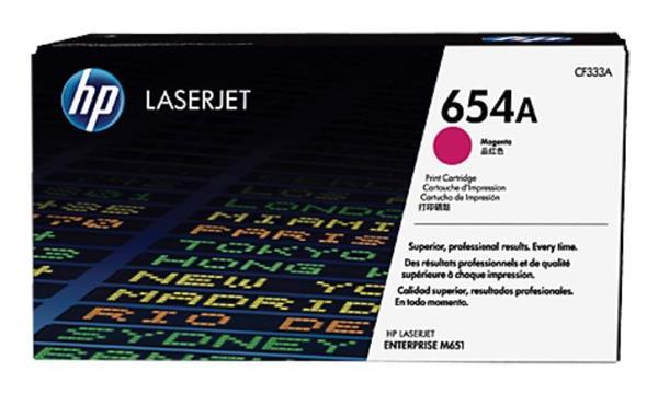 CF333A purpurová tonerová kazeta HP 654A LaserJet