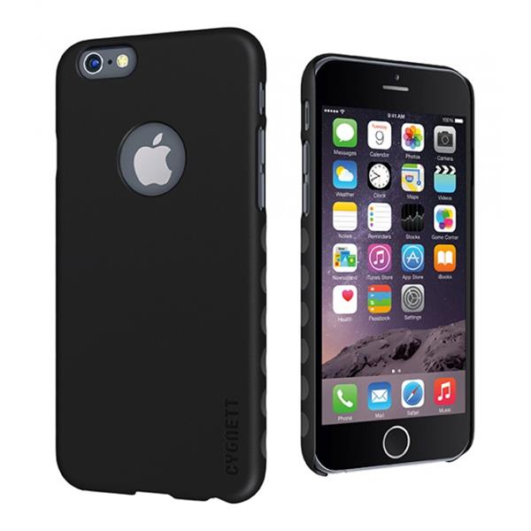 Cygnett, obal AeroGrip Feel pre iPhone 6/6S, čierny