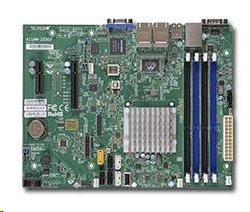 Supermicro uATX MB Atom C2758 8-core (20W TDP), 4x DDR3 ECC, 2xSATA3, 4xSATA2, (1,1 x PCI-E x8,x4), 4xLAN, IPM