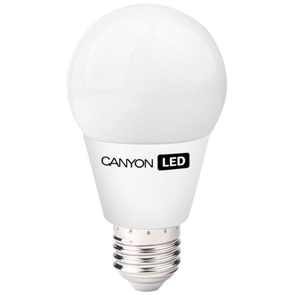 Canyon LED COB žiarovka, E27, guľatá, mliečna, 6W, 470 lm, teplá biela 2700K, 220-240V, 300°, Ra>80, 50.000 hod