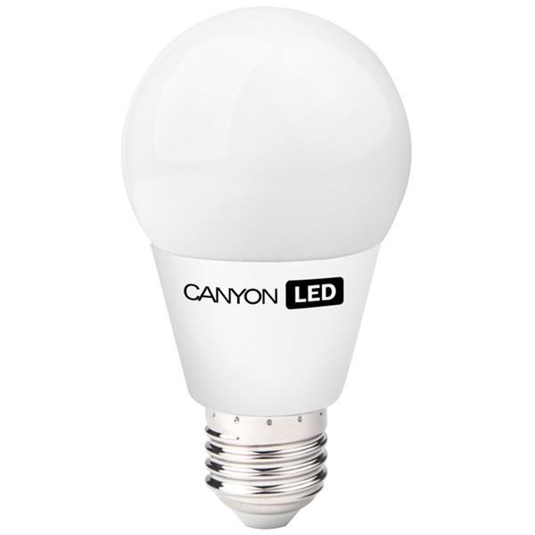 Canyon LED COB žiarovka, E27, guľatá, mliečna, 8W, 600 lm, teplá biela 2700K, 220-240V, 300°, Ra>80, 50.000 hod