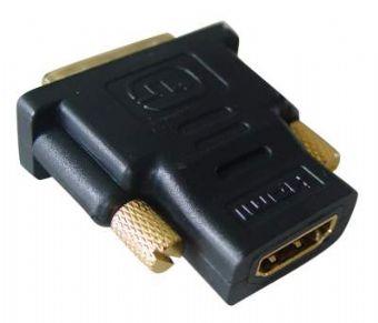 Redukcia HDMI na DVI, F/M, čierna. Female-male