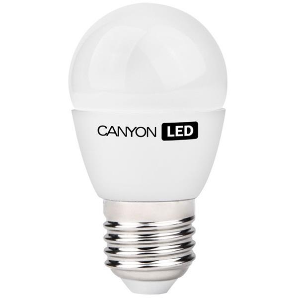 Canyon LED COB žiarovka, E27, kompakt guľatá, mliečna 3.3W, 250 lm, teplá biela 2700K, 220-240V, 150°, Ra>80, 50.000 hod