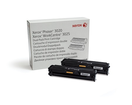 Xerox® Phaser® 3020 / WorkCentre® 3025 Dual Pack 1.5K Print Cartridge