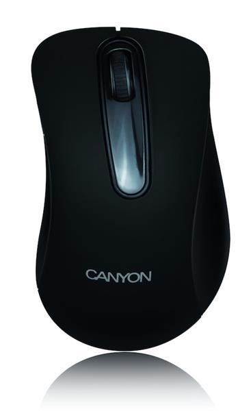 Canyon CNE-CMSW2, Wireless optická myš USB, 800 dpi, 3 tlač, čierna