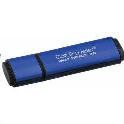64 GB . USB 3.0 kľúč . Kingston Secure DTVP30 256bit AES EncryptedFIPS 197 ( r250 MB/s, w85 MB/s )