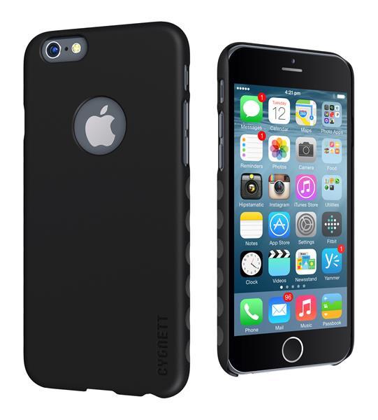 Cygnett, obal AeroGrip Feel pre iPhone 6/6S Plus, čierny