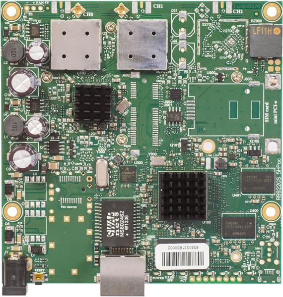 MIKROTIK RouterBOARD RB911G-5HPacD + L3 (720MHz, 128MB RAM, 1x GLAN, 1x 802.11ac, 2xMMCX)