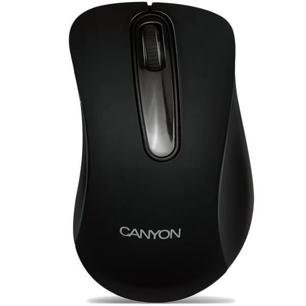 Canyon CNE-CMS2, optická myš, USB, 800 dpi, 3 tlač, čierna