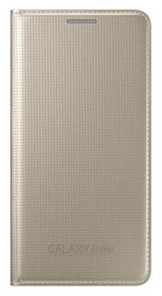 Samsung flipové púzdro pre Galaxy Alpha, zlaté