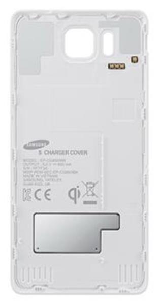 Samsung zadný kryt - bezdrôtové nabíjanie pre Galaxy Alpha, biele