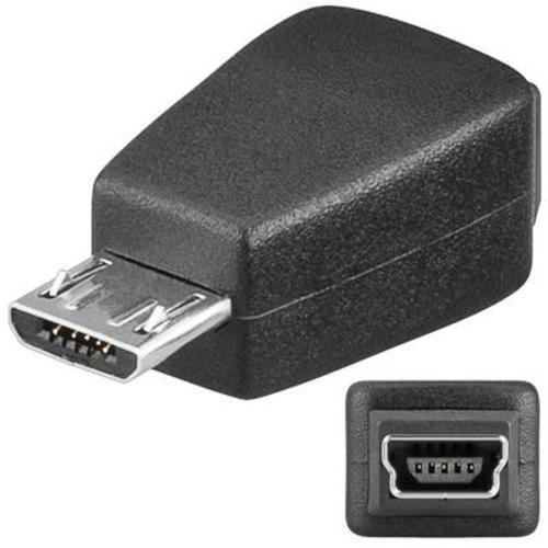 Redukcia USB Mini 5 PIN(F) - Micro USB(M)