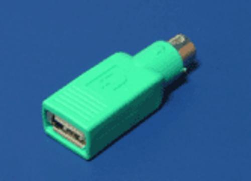 Redukcia USB-PS2, pre pripojenie USB na PS2 port zelený