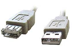 Kábel USB A-A 2.0 predlžovací, 0,5m, typ AM-AF šedý