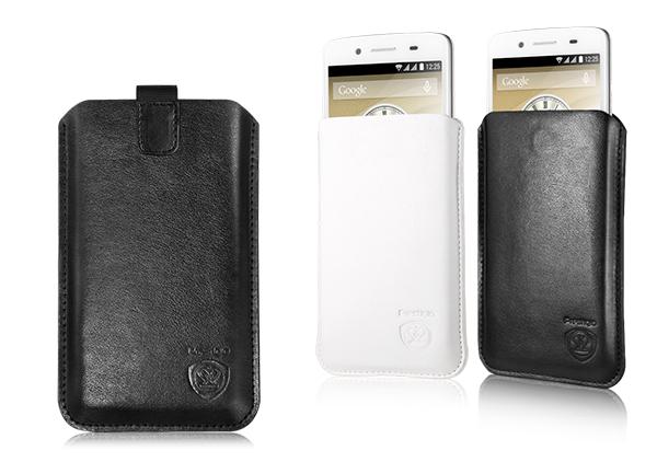 Prestigio Univerzálne kožené púzdro pre smartfóny, veľkosť S, biela