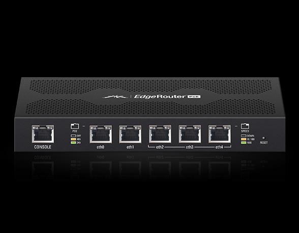 Ubiquiti EdgeRouter POE 5x1000Mbps PoE desktop