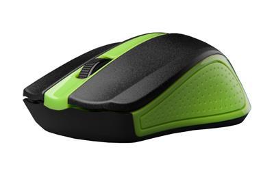 C-Tech myš WLM-01 zelená, bezdrôtová wir, USB. Nano receiver