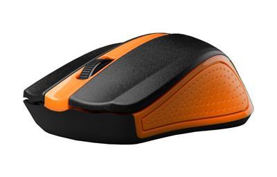 C-Tech myš WLM-01 oranžová, bezdrôtová wir, USB. Nano receiver