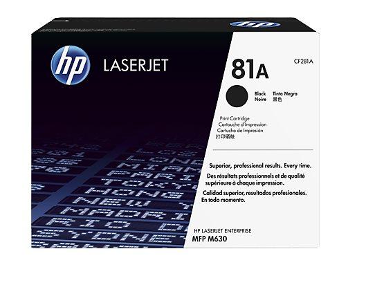 Čierna originálna tonerová kazeta HP 81A LaserJet
