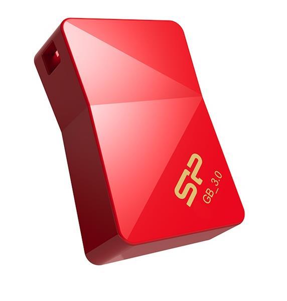 64 GB . USB 3.0 kľúč ..... Silicon Power Jewel J08, červený (odolný voči vode, prachu a nárazu)