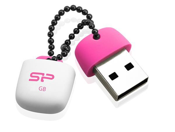 16 GB . USB kľúč ..... Silicon Power Touch T07, ružový (odolný voči vode, prachu a nárazom)