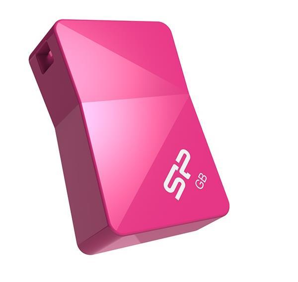 16 GB . USB kľúč ..... Silicon Power Touch T08, ružový (odolný voči vode, prachu a nárazom)