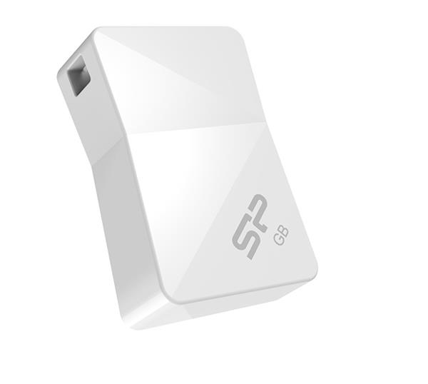 16 GB . USB kľúč ..... Silicon Power Touch T08, biely (odolný voči vode, prachu a nárazom)