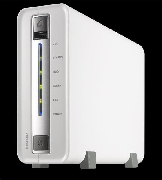 QNAP™ TS-112P-EU 1 Bay NAS, 3.5, Mavell 6282 1.6GHz CPU, DDRIII 512MB RAM, EU Edition