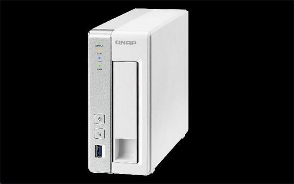 QNAP™ TS-131-EU 1 Bay NAS, 3.5, Mindspeed C2K 1.2GHz CPU, Dual-Core , DDRIII 512MB RAM, EU Edition
