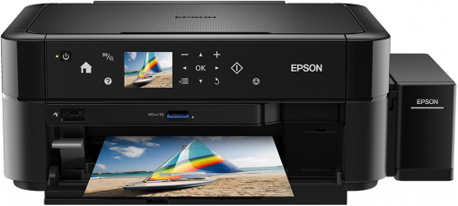 Epson L850, A4 color All-in-One, foto tlac, tlac na CD/DVD, USB + ESET Mobile Security pre Android