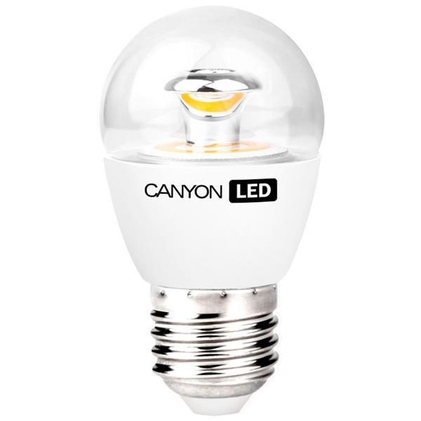 Canyon LED COB žiarovka, E27, kompakt guľatá priehľadná 6W, 494 lm, neutrál biela 4000K, 220-240V, 150°, Ra>80, 50000hod