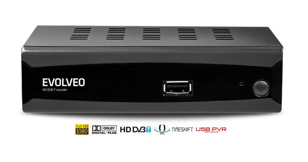 EVOLVEO HD DVB-T rekordér Alpha (s podporou MKV, DivX, MP3 a JPG)