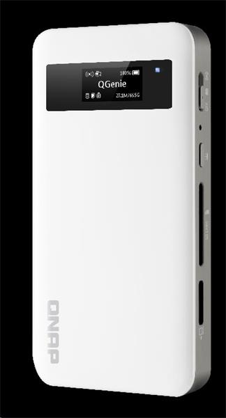 QNAP™ QG-103N mini NAS, 3.5,32GB SSD, 1x LAN, 1x USB 3.0, SD card slot, WiFi, 3000 mAh Power bank