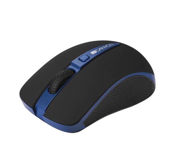 Canyon CNS-CMSW6BL, Wireless optická myš USB, 1000/1600 dpi, Power Saving, modro-čierna