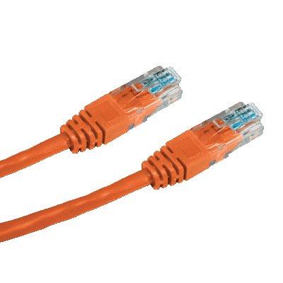 OEM patch kábel Cat5E, UTP - 0,25m , oranžový