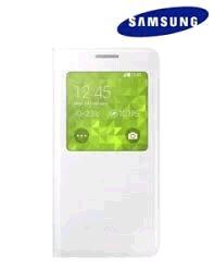 Samsung flipové púzdro s oknom pre Galaxy Alpha, Biela