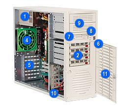 Supermicro® CSE-733T-665B MidiTower